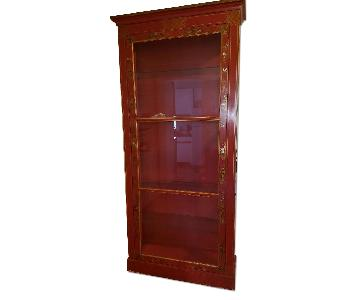 Baker Furniture Red Lacqer Bakers Curio