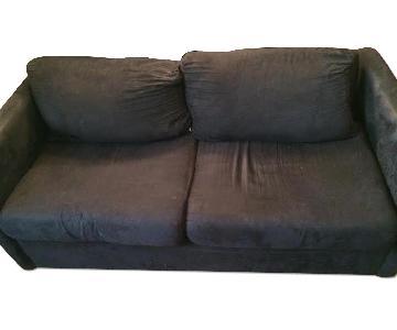 Hughes Furniture Matte Black Sofa