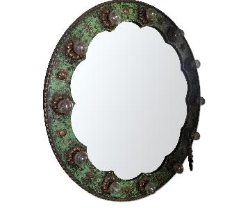 Vintage French Wrought Iron Wall Mirror