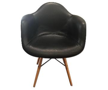 Faux Leather & Wood Office/Dining Chair