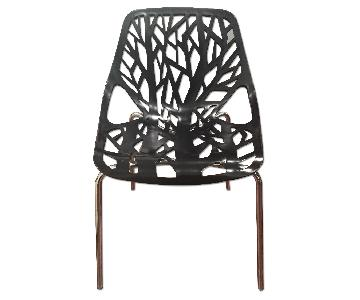 Black Plastic Dining Chair