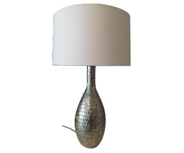 Silver Metal Finish Table Lamps