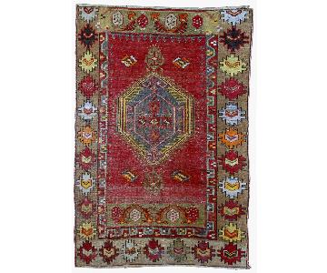 Antique 1920s Handmade Turkish Anatolian Rug