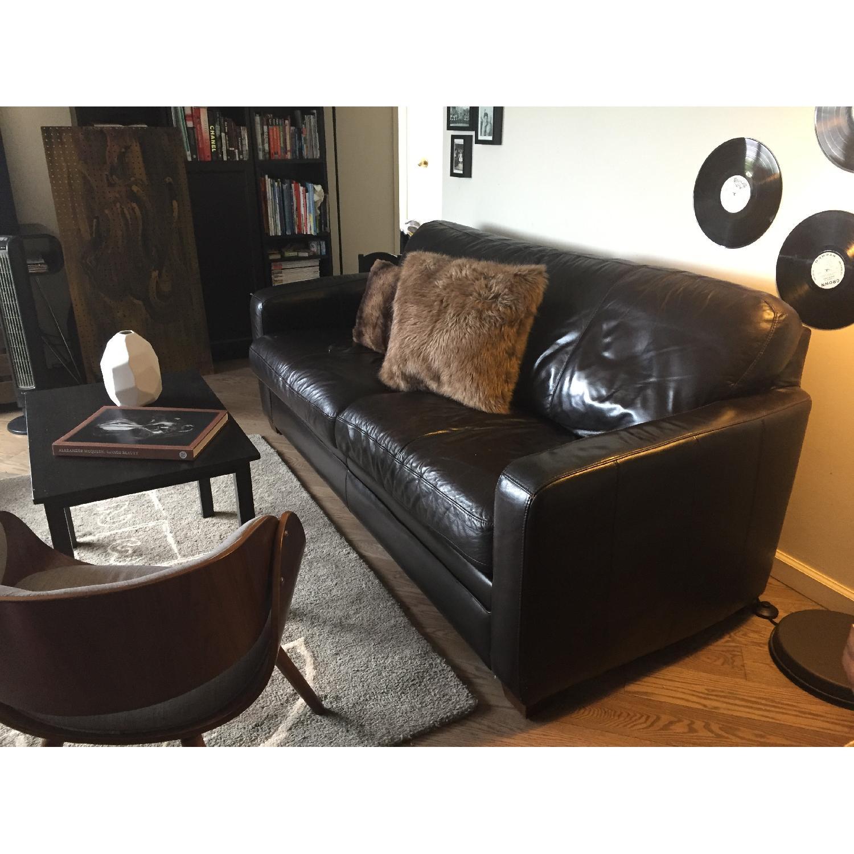 raymour u0026 flanigan leather sleeper sofa1