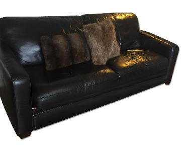 Raymour & Flanigan Leather Sleeper Sofa