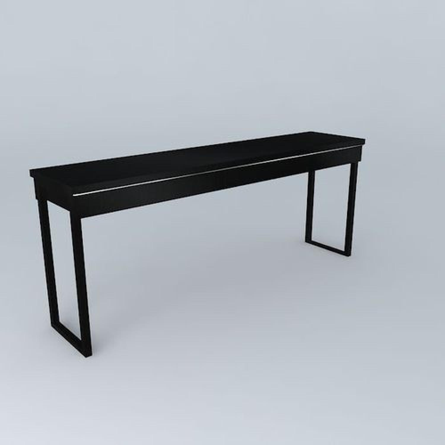 ikea besta burs table in glossy black aptdeco. Black Bedroom Furniture Sets. Home Design Ideas