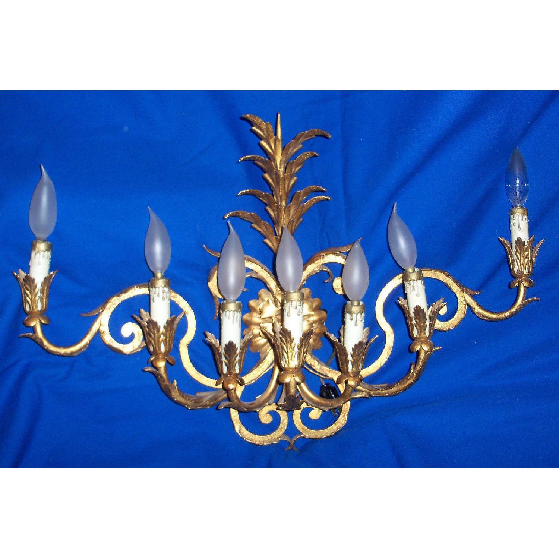 Vintage 7-Light Italian Baroque-Style Sconce - image-1