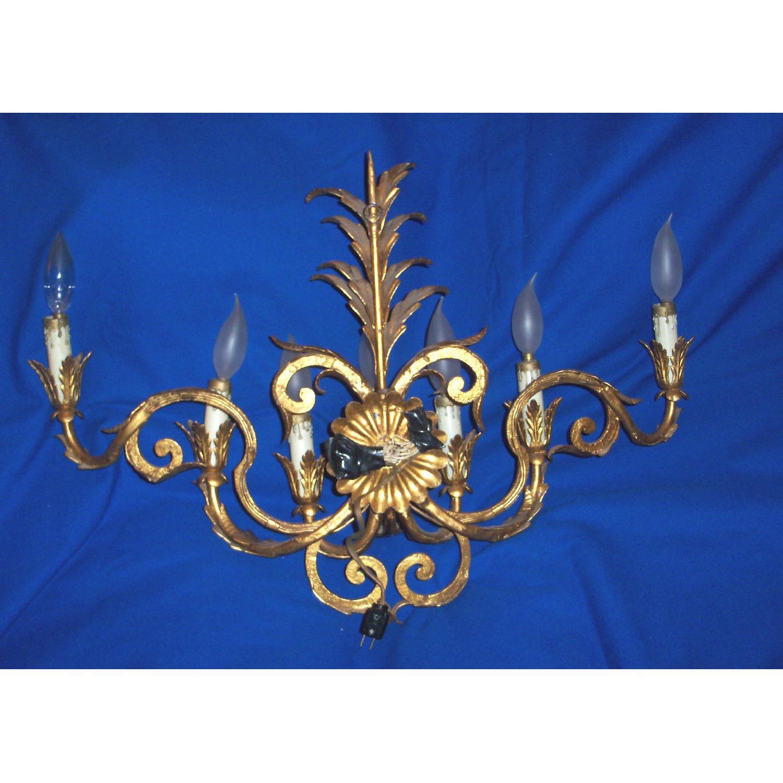 Vintage 7-Light Italian Baroque-Style Sconce - image-4