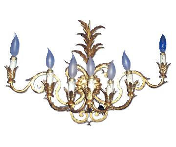 Vintage 7-Light Italian Baroque-Style Sconce