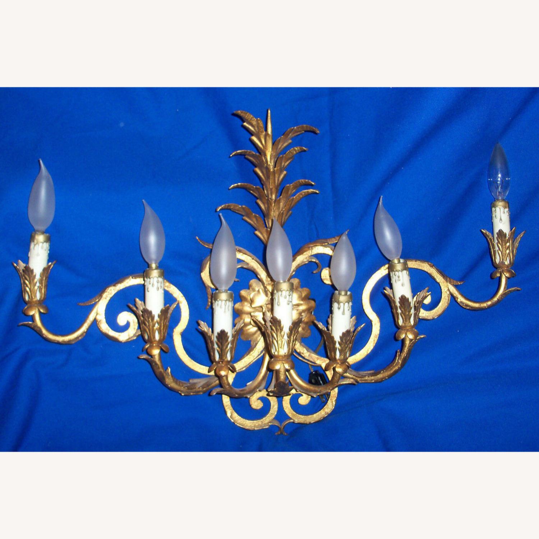 Vintage 7-Light Italian Baroque-Style Sconce - image-8