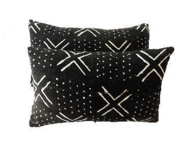 Mali Lumbar Mud Cloth Black & White Pillows