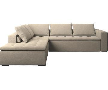 BoConcept Mezzo Corner Sofa in Beige Bari Fabric