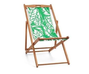 Lilly Pulitzer Wooden Boom Boom Print Folding Chair