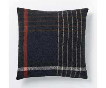 West Elm Faribault Grid Plaid Pillows w/ Heather Shadow Cove