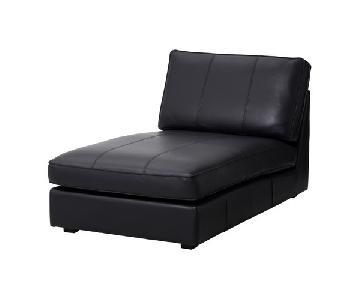 Ikea Kivik Black Leather Chaise
