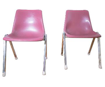 Vintage 1980s Molded Plastic Chairs