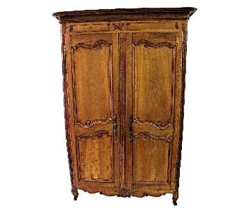 Vintage 18th C Large French Country Armoire