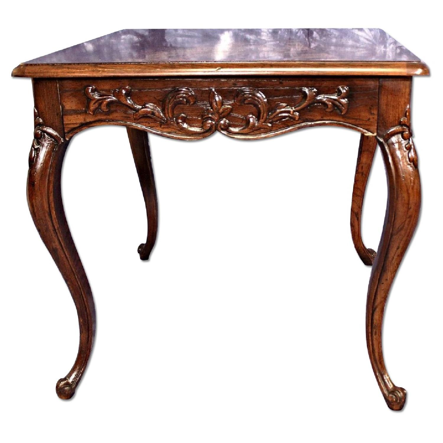 Henredon French Provincial Carved End/Side Table ...