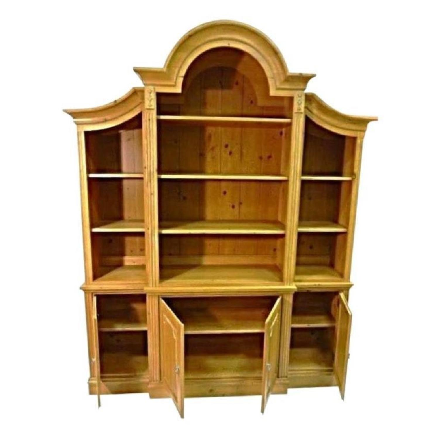 Pine China Cabinet Hutch: Ethan Allen French Country Pine Hutch China Cabinet