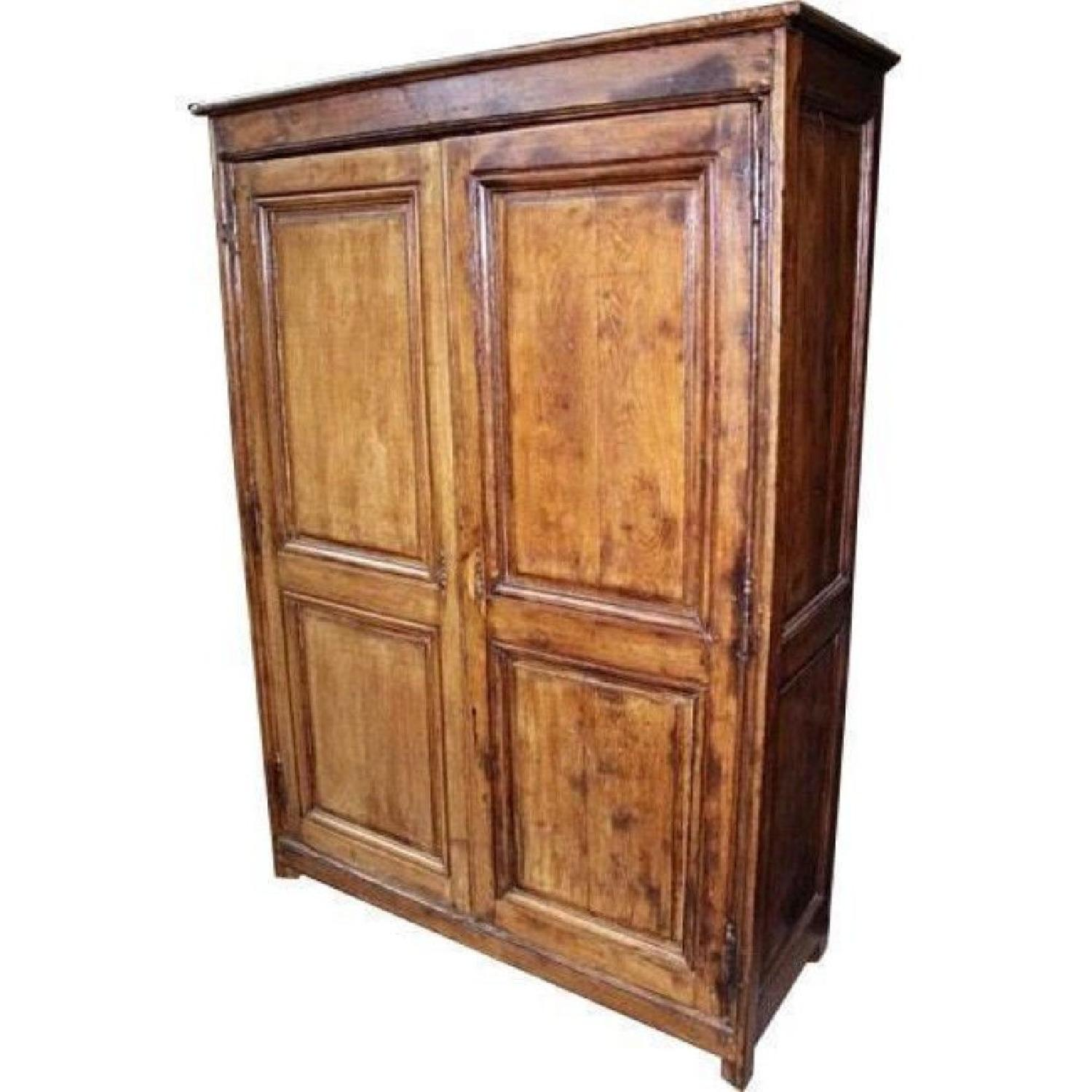 18h C French Country Oak Armoire