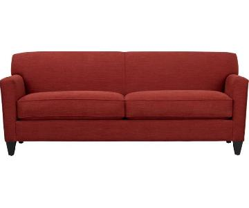 Crate & Barrel Hennessy Sofa in Red