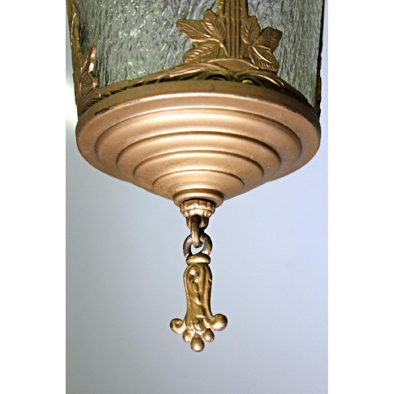 Antique Art Nouveau Lantern Hall Light Chandelier AptDeco