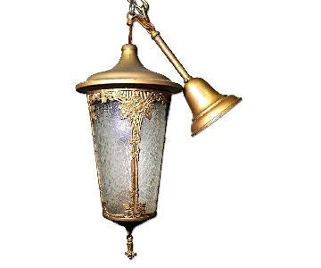 Antique Art Nouveau Lantern Hall Light Chandelier