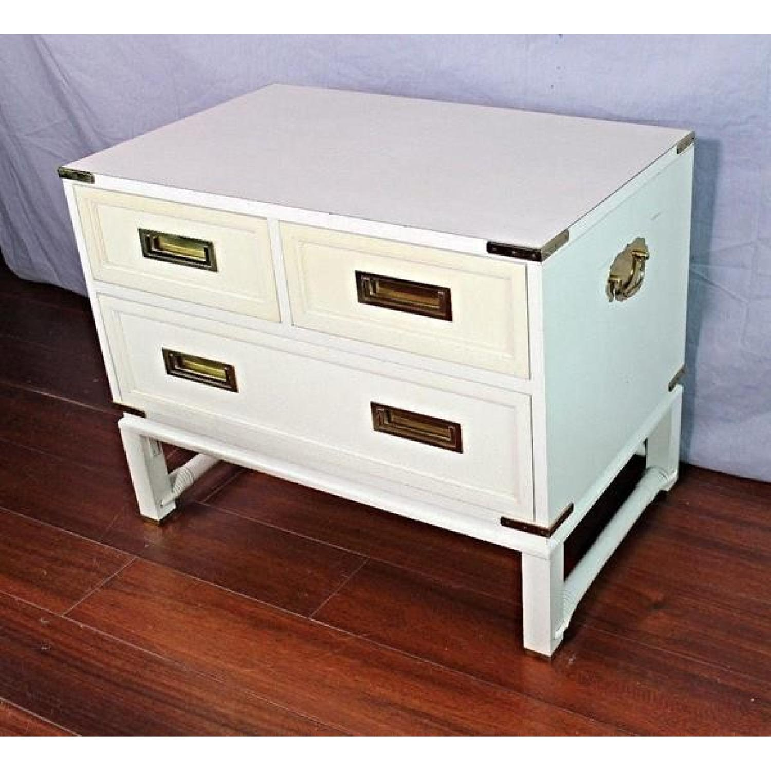 Ficks Reed Mid Century Modern White Campaign Chest Aptdeco