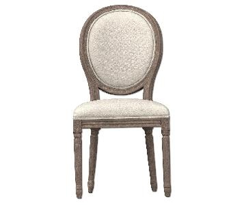 Restoration Hardware Vintage French Round Fabric Side Chairs