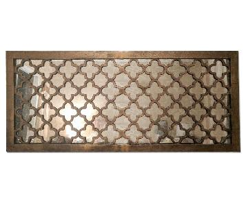 Decorative Wall Mirror w/ Bronze Detail