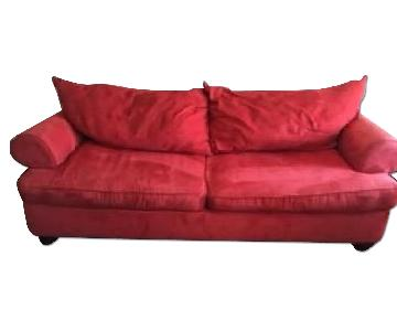 Ashley's Red Sofa