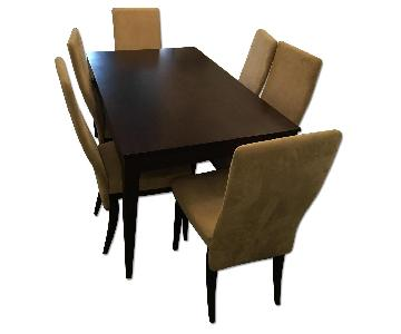 Dinec Dining Table w/ 6 Upholstered Chairs