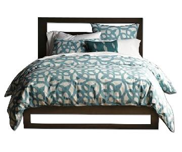 West Elm Queen Bed Frame w/ Cutout Headboard