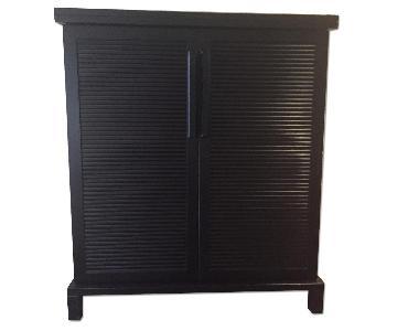 Crate & Barrel Steamer Bar Cabinet