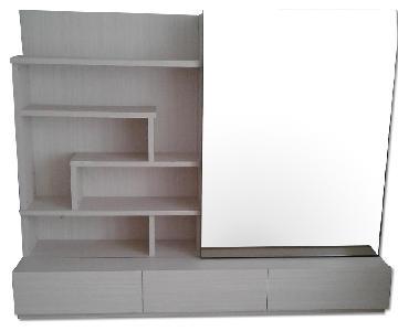 Lazzoni TV Unit w/ Sliding Mirror, Shelves & 3 Large Drawers