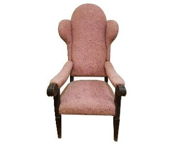 Plantation-Style Antique Wingback Chair