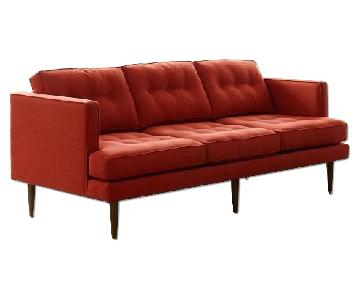 West Elm Peggy 3 Seater Sofa in Cayenne
