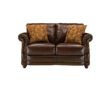 Raymour & Flanigan Alexander Leather Loveseat