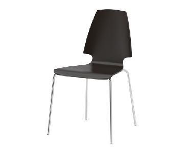 Ikea Vilmar Dark Brown/Black Dining Chairs