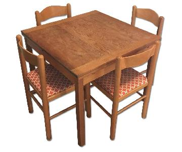 Square Dining Table w/ 4 Chairs