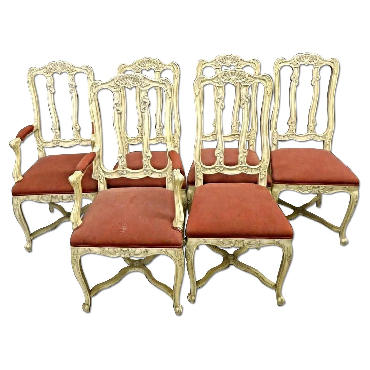 French Country Provincial Louis XV Style Dining Chairs