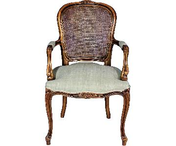 Louis XV French Style Upholstered Bergere Armchair