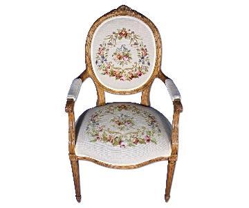Louis XVI French Style Needlepoint Armchair