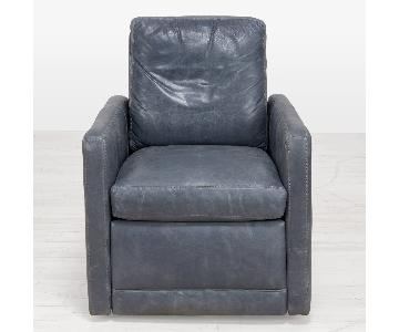 ABC Carpet & Home Irving Ruggle Grey Leather Recliners