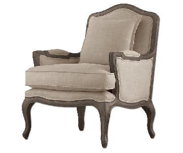 Restoration Hardware Linen Chair