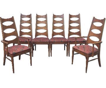 Kent Coffey Cat Eye Dining Chairs