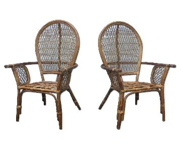 Vintage Bamboo Armchairs