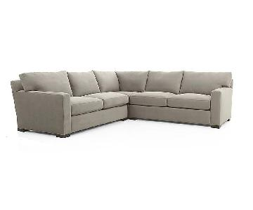 Crate & Barrel AxisII Gray Microfiber Sleeper Sectional Sofa