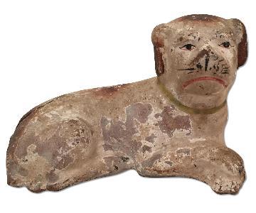 Antique Clay Dog