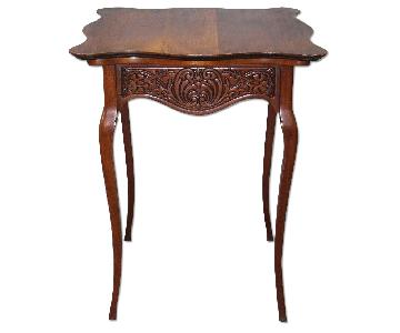 Antique French Provincial Carved End/Side Table